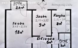 Debrecen, Újkert, 3. emeleti, 44+2,4 nm-es, kifizetett panel