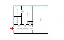 József Attila lakótelepen 38,2 m2 lakás eladó tulajdonostól!